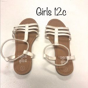 Other - Girls 12c White Strappy Sandals